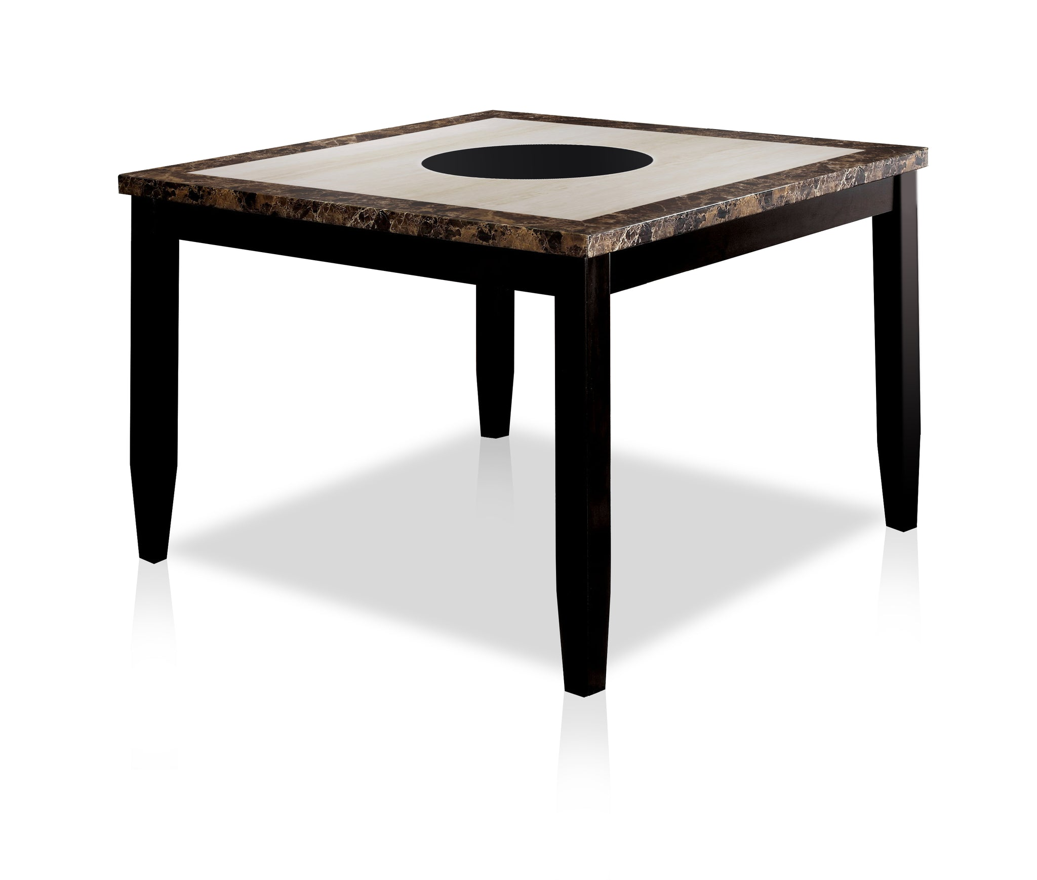 Isley Contemporary Counter Height Table, Black