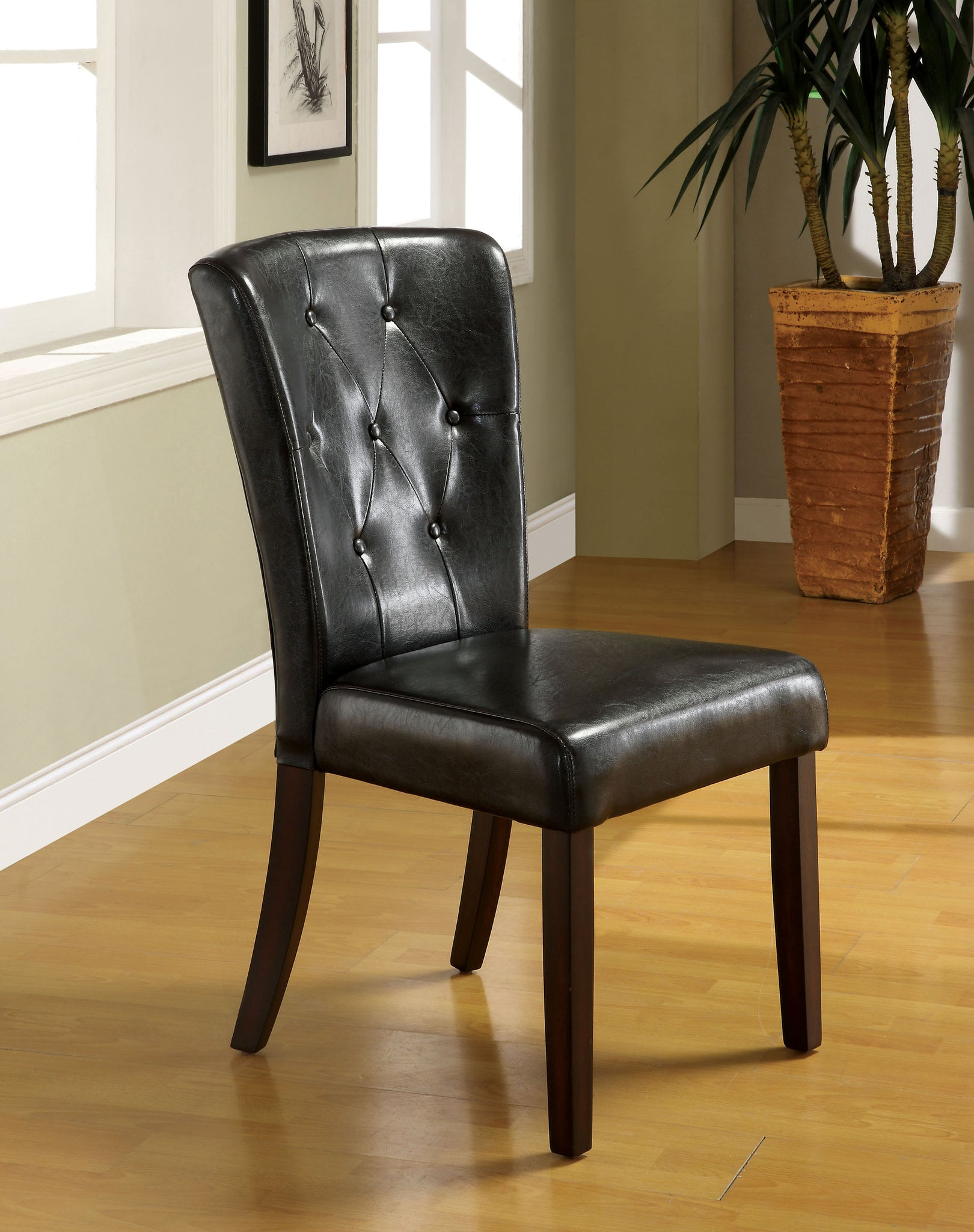 Serpa Transitional Side Chair, Espresso