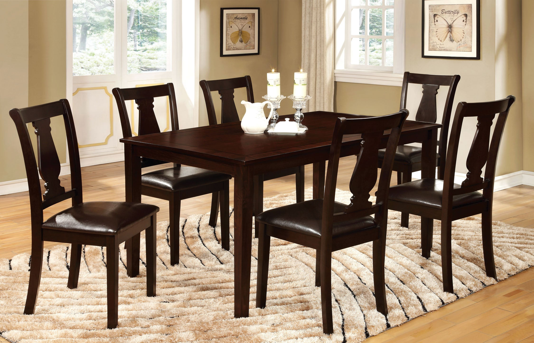 Abby Transitional 7-Piece Dining Set