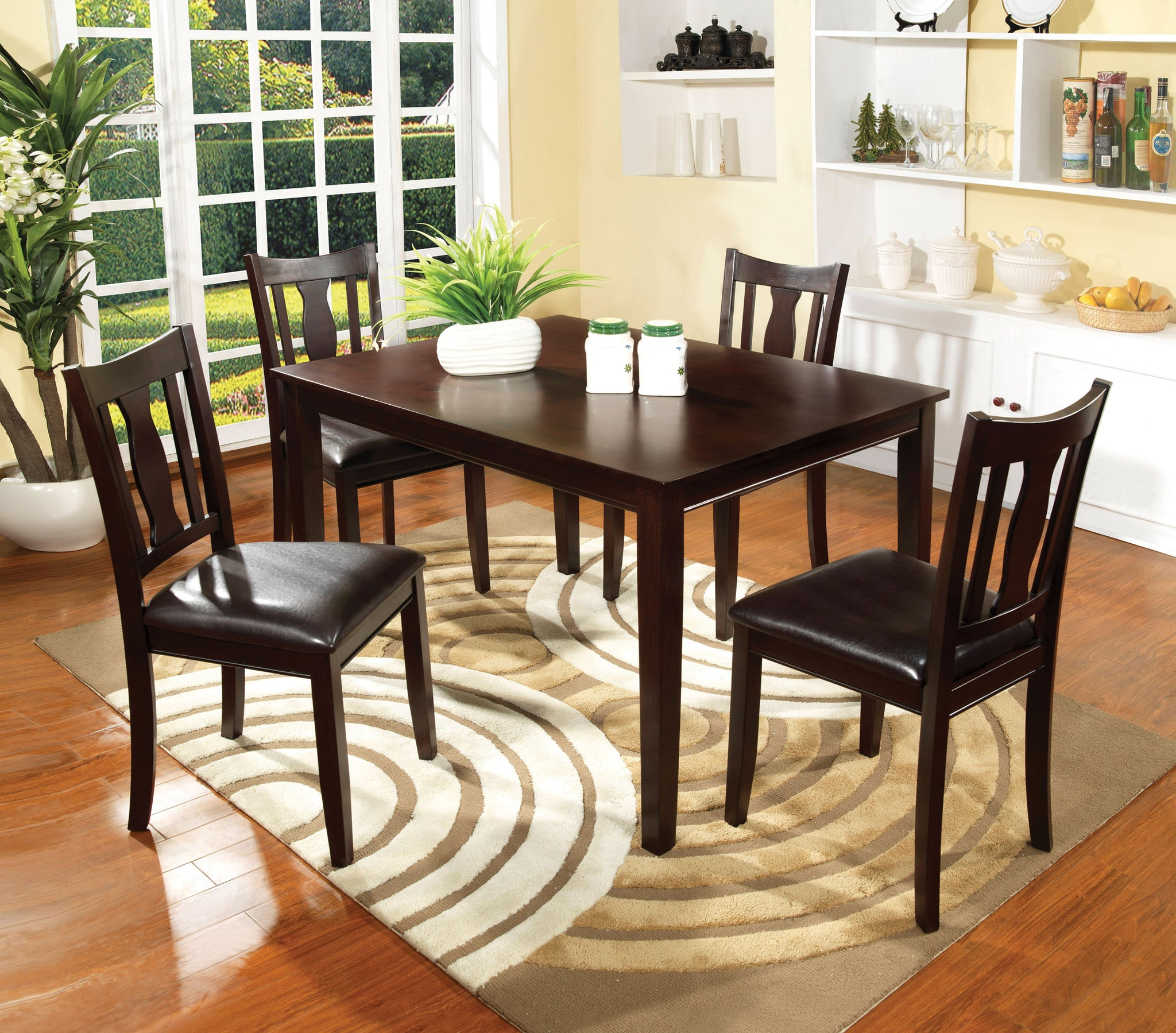 Ayesha Transitional 5-Piece Counter Height Table Set - HD Furniture