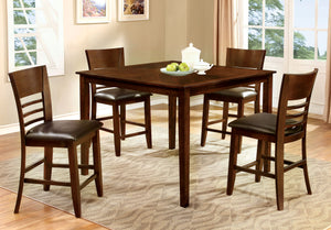Klare Transitional 5-Piece Counter Height Table Set