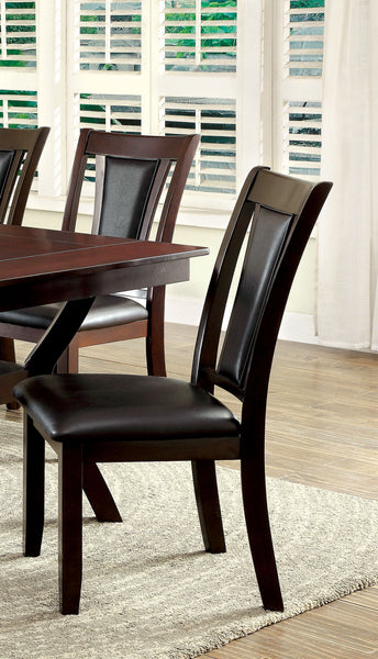 Persa Contemporary Side Chair, Dark Brown