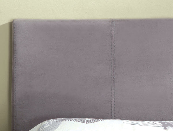 Cameron Contemporary Adjustable Leatherette Headboard In Gray Fabric-Full Queen - HD Furniture