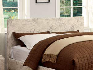 Cameron Contemporary Headboard In White- Full Queen - HD Furniture