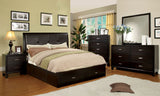 Deliah Contemporary King Footboard Storage Bed in Espresso