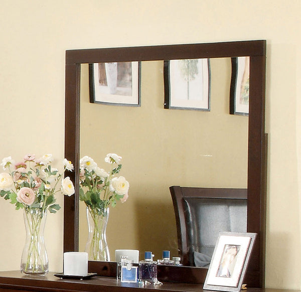 Noriah Contemporary Wood Framed Mirror