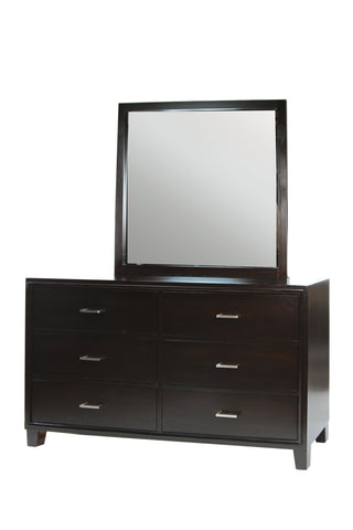 Logan II Contemporary Dresser and Mirror