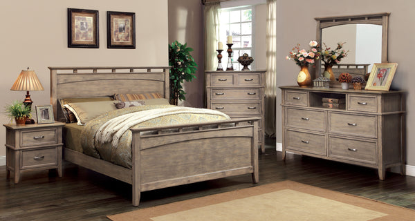 Perdomo Transitional Style Weathered Oak Queen Bed