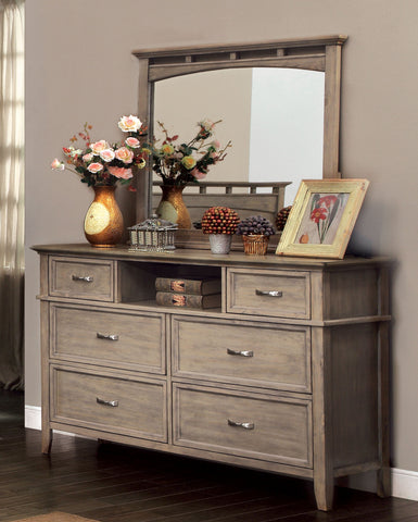 Perdomo Transitional Style Weathered Oak, 6-Drawer Dresser