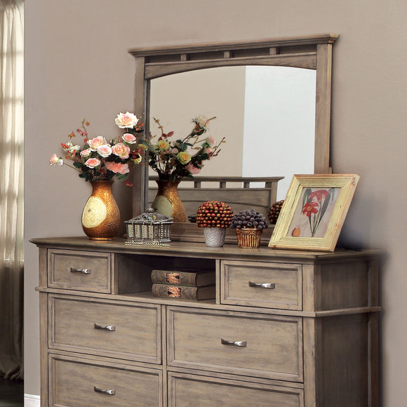 Perdomo Transitional Style Weathered Oak Mirror