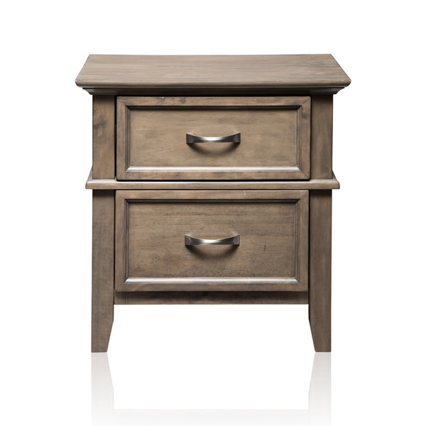 Perdomo Transitional Style Weathered Oak, 2-Drawer Nightstand
