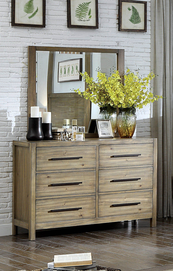 Lanta Contemporary 6-drawer Dresser