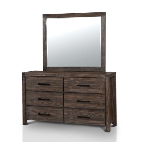 Emma Rustic 6-drawer Dresser and Mirror Set