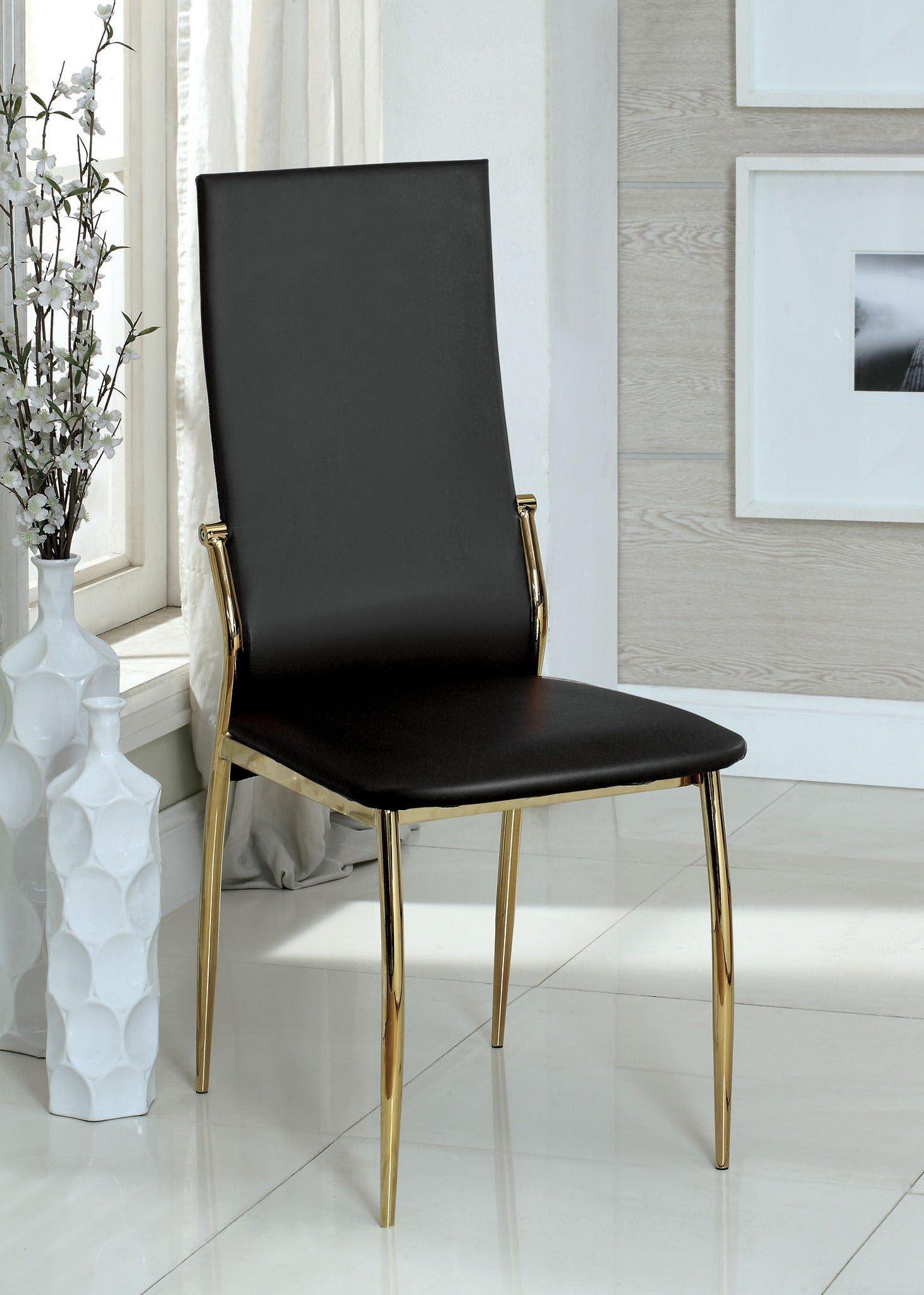 Ninabah Contemporary Side Chair, Black