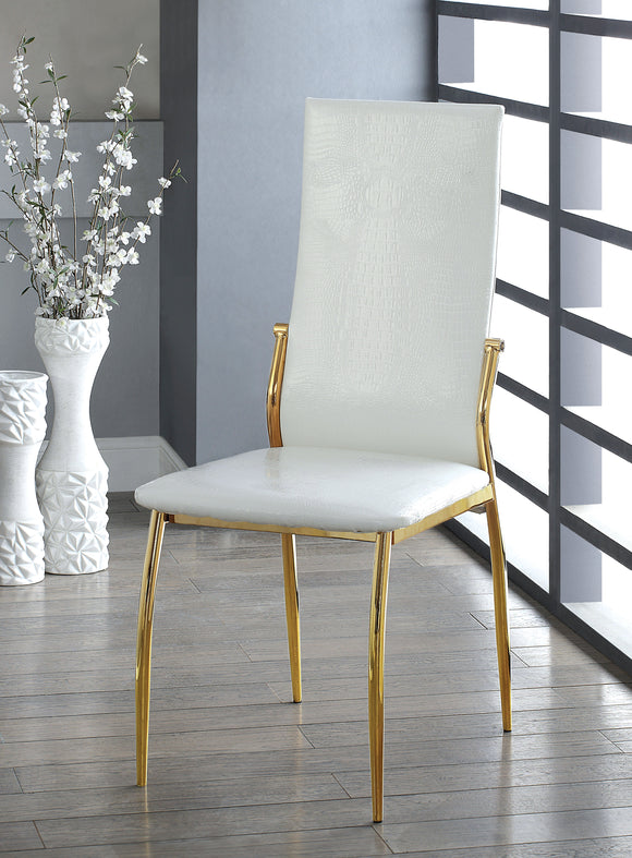 Noah Contemporary Side Chair, White
