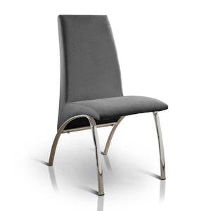 Eleza Contemporary Side Chair, Gray