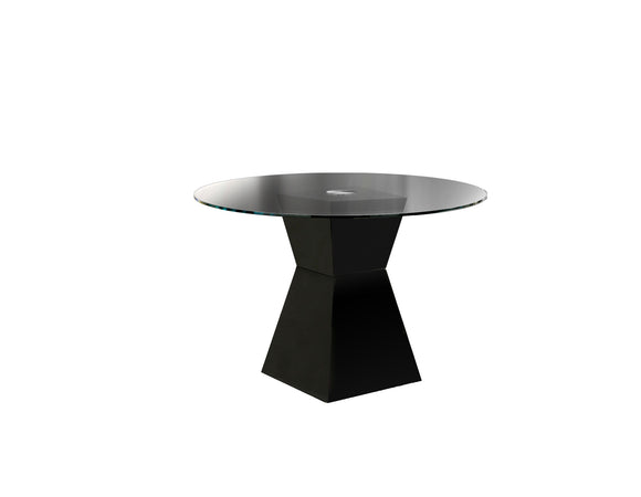 Clarin Contemporary Dining Table, Black