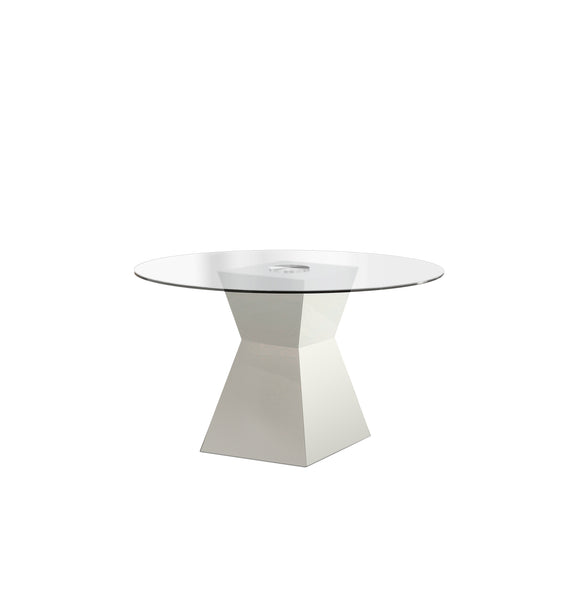 Clarin Contemporary Dining Table, White