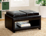 Balcom Contemporary Style Espresso Ottoman - HD Furniture