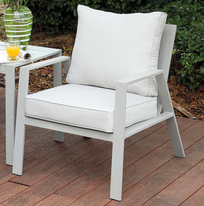 Arsey Contemporary Style Aluminum Frame Outdoor Patio Arm Chair