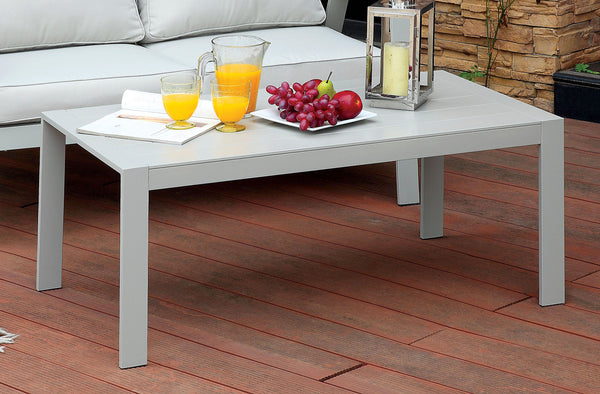 Arsey Contemporary Style Aluminum Frame Outdoor Patio Coffee Table - HD Furniture