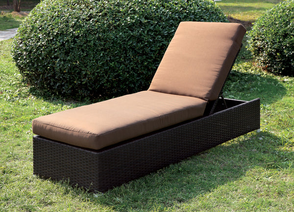 Marta Contemporary Style Adjustable Back Outdoor Patio Chaise