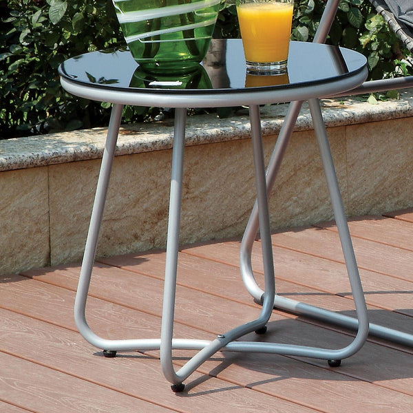 Tania Contemporary Style Outdoor Patio Round End Table
