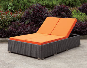 Galvon Contemporary Style Adjustable Back Double Seater Outdoor Patio Chaise