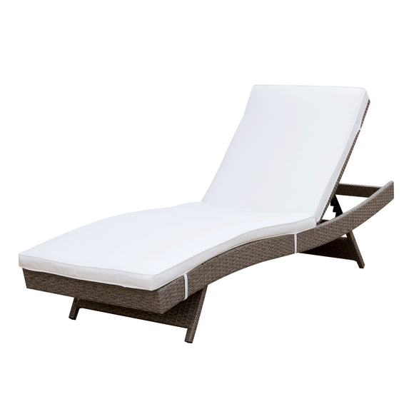 Misa Contemporary Style Adjustable Back Outdoor Patio Chaise