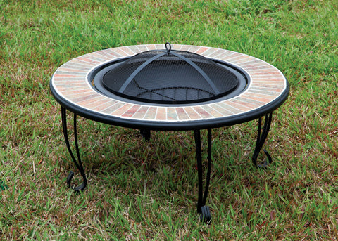 Drea Contemporary Style Outdoor Fire Pit with Spark Guard
