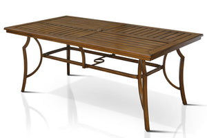 Dolotti Transitional Style Outdoor Patio Rectangle Dining Table