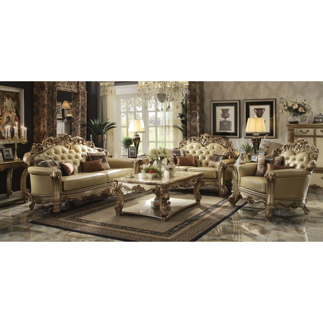 Dresdon Gold Patina Loveseat by Acme