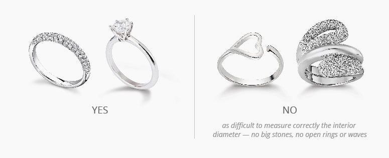 Which ring is most suited to measure your ring size