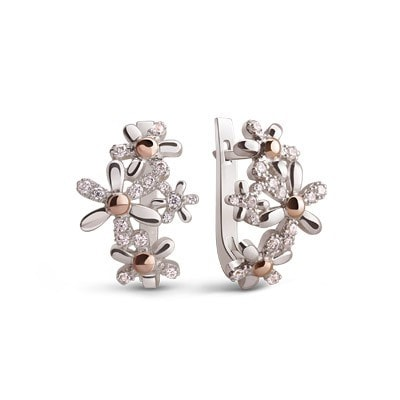 9kt Rose Gold Earrings with Cubic Zirconia