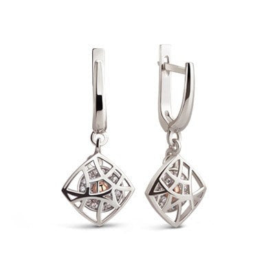 Silver geometrical earrings Beijing