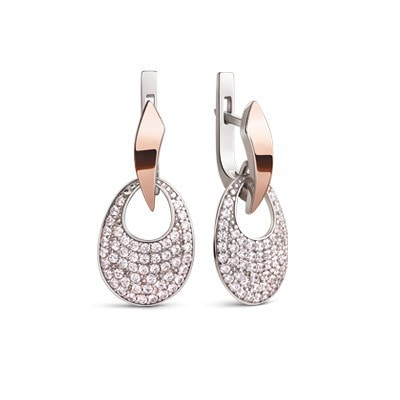 Sparkling silver and gold earrings perfect for party
