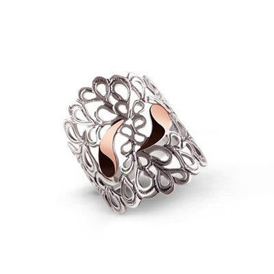 Highly detailed handmade silver ring