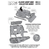 BMC Classic Army Corps of Engineers Bulldozer Building Plastic Army Men Playset