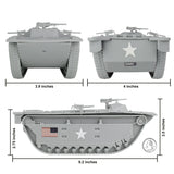 BMC WW2 USMC Amtrac LVT - 1:32 Amphibious Vehicle for Plastic Army Men