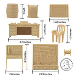 BMC Classic Marx Military Base Camp - Tan 44pc Plastic Army Men Playset Accessories