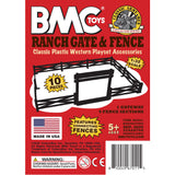 BMC Classic Marx Farm Ranch Fence & Gate - White 10pc Plastic Playset Accessory
