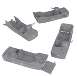 BMC Classic Marx Landing Craft - 4pc Gray Plastic Army Men Boat Vehicles