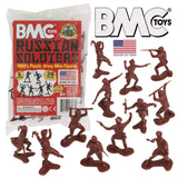 BMC Classic Marx Russian Plastic Army Men - 36pc WW2 Soldier Figures - Made in USA