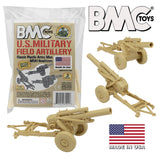 BMC Classic Marx US Military HOWITZERS - Tan 3pc Plastic Army Men Field Artillery