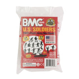 BMC Marx Plastic Army Men US Soldiers - Red 31pc WW2 Figures - Made in USA