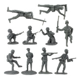 BMC WW2 D-Day Plastic Army Men - 34 American, British, German Soldier Figures