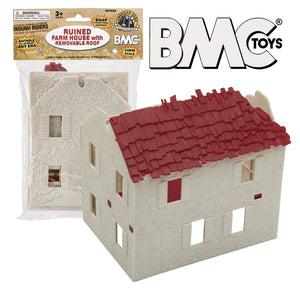 BMC WW2 Ruined Spanish Farm House - Plastic Army Men Playset Accessory