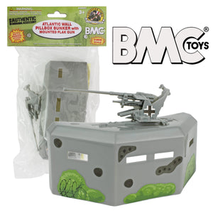 BMC WW2 Pillbox Bunker Defense with Gun  - 1:32 Accessory for Plastic Army Men