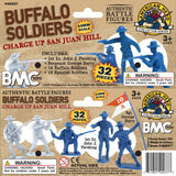 BMC Buffalo Soldiers Charge Up San Juan Hill - 32pc Soldier Figures