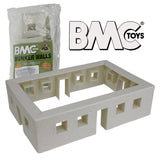 BMC WW2 Blockhouse Bunker Walls - Plastic Army Men Playset Building Accessory